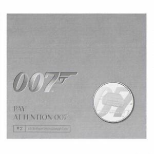 Pay Attention 007 2020 UK �5 Brilliant Uncirculated Coin