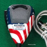 Astatic 636L Flag Stars N' Stripes Noise Canceling 4-Pin CB Microphone