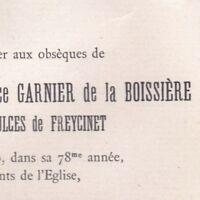 Stéphanie Camille Garnier De La Boissière Saulces De Freycinet Toulouse 1910
