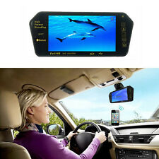7'' HD 800*480 TFT LCD Color USB MP5 FM SD Car Rearview Bluetooth Mirror Monitor