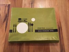 Collectable stainless steel Oneida fish eaters in Roseanne style boxed