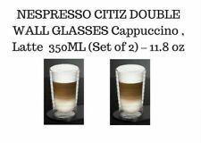 BRAND NEW NESPRESSO CITIZ DOUBLE WALL LATTE GLASSES 350ML (Set of 2) – 11.8oz