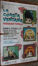 Used - Cartel de Cine  LA CUARTA VENTANA  Vintage Movie Film Poster - Usado