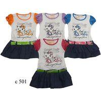 Girl's Short Sleeve Crew Neck Summer Kitty Dresses 2 4 6 8 10 12 years Gift NEW