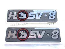HSV VN VP CLUBSPORT SENATOR MALOO SV91 ' HSV8 ' GUARD BADGE x2 GENUINE HSV NOS