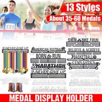 Edelstahl Medaillenhalter Medaillen Aufhänger Display Halterung Running/Swimming