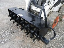 "Bobcat Skid Steer Attachment 72"" Hydraulic Tiller Soil Conditioner - Free Ship"