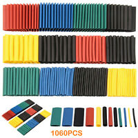 1060 Heat Shrink Tubing Tube Sleeve Kit Car Electrical Assorted Cable Wire Wrap