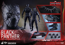Hot Toys Captain America Civil War Black Panther 1/6 Scale Sideshow USA Seller