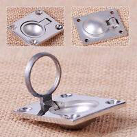 Stainless Steel Ring Handle Flush Hatch Locker Cabinet Pull Lift Boat Marine