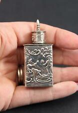Antique Miniature Hallmarked Continental 930 Silver Repousse Container Tea Caddy