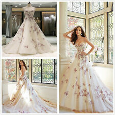 New White/ivory Wedding dress Bridal Gown custom size 6-8-10-12-14-16 18++22