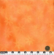 Quilting Fabric Faded Orange Flowers Orange BG 100% Cotton | Fat Qs | OF31 |