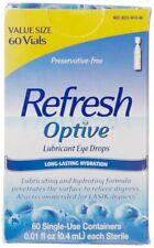 6 pacotes-atualizar optive Lubrificante Colírio frascos de uso único 60 Cada