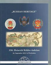 """Catalogue vente aux enchères 2012-Spécial Catalogue Russie - """"Russian HERITAGE"""""""