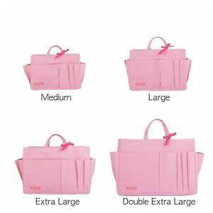 NEW Bag Organizer Purse Insert - Waterproof, M-XXL Sizes, 11 Compartments, Pink