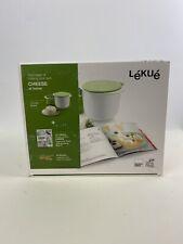 Lekue Cheese Maker Kit with Recipe Book, White