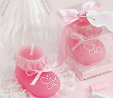 10pcs Pink Sock Shoe Candle Wedding Baby Shower Birthday Souvenirs Gifts Favor