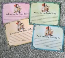 X4 Advice for the Bride to Be cards, hen party, bridal shower game, activity