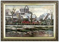 Framed Quality Hand Painted Oil Painting Monet Church at Vetheuil 24x36in