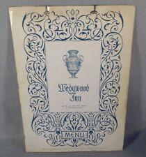 The Wedgwood Inn Restaurant Vintage Menu St. Petersburg Florida 1958 & Postcards