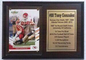 Kansas City Chiefs Tony Gonzalez Football Card Plaque