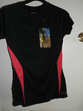 NRG Mountain life Active Black & Pink Short Manche Top-BNWT