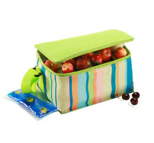 Insulated lunch Cooler Bag | 6 Litre / 9 can capacity | incl. ice brick | Green