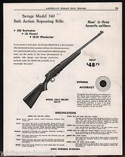 1954 SAVAGE Model 340 Bolt-Action Repeating RIFLE AD