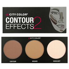 City Color Contour Effects 2 Palette Face shadow Shimmer Bronze Highlight NEW