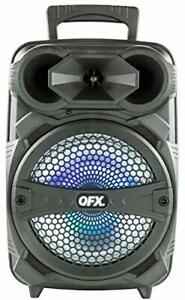 """QFX PBX-81 8"""" Portable Bluetooth Party Sound System with Microphone"""