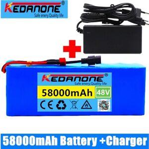 48V 58Ah 1000W high power capacity 48V ion battery pack 580000mah & charger
