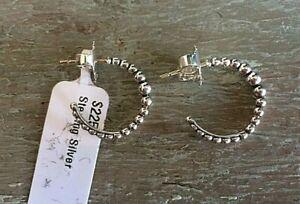 LAGOS sterling silver 925 hoop Caviar earrings NEW $225