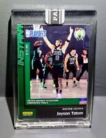 Jayson Tatum 2019-2020 Panini NBA Instant Playoffs 192 Green Parallel Card 3/10
