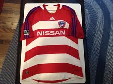 reputable site ee69a 93b49 FC Dallas Adidas Formotion Nissan MLS Authentic Striped Soccer Jersey SZ L  -Cool