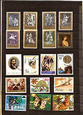 POLOGNE  Timbres grands formats:Art theatral,animaux,papillons,divers 82M215T4