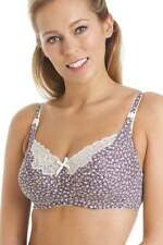 Polyester Floral Wire Free Bras for Women