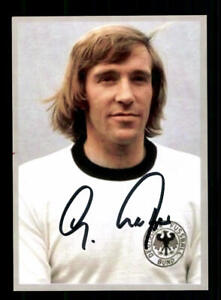 2 Günter Netzer Autogrammkarte DFB Weltmeister 1974 Original Signiert