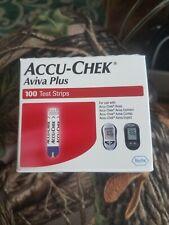 Accu-Chek Aviva Plus Diabetic Blood Glucose Test Strips box of 100