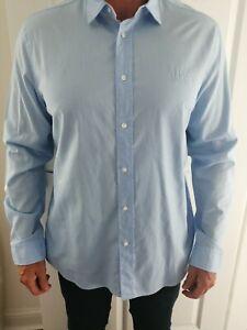 Mens Hugo Boss Blue Shirt Xl