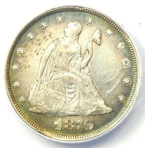 1876 Twenty Cent Coin 20C (1876-P) - ANACS AU50 Details - Rare Date 1876 Coin!