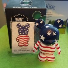 "DISNEY Vinylmation 3"" Park Set 1 Holiday USA American Flag 4th of July Box Card"