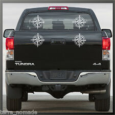 Small Compass Sticker, Decal, Land Rover, 4x4, Off Road, Navigation, Style, x 4