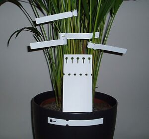 LOOP LOCK LABELS - WHITE 16CM TIE ON PLANT LABELS PLANT/TREE TAG LABEL NEW