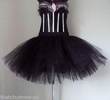 Black Burlesque Tutu Skirt size XS S M L Steampunk Cosplay the tutu store uk
