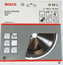 BOSCH TCT CIRCULAR SAW BLADE 160 X 16mm 12T - D 54 L