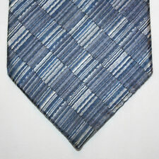 Silk Neck Tie with Blue and Silver Plaids 710