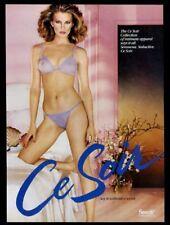 1981 Ce Soir lingerie sheer lilac panty bra woman photo vintage print ad