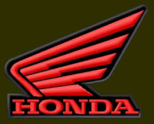 "HONDA WING EMBROIDERED PATCH ~3-1/8"" x 2-5/8"" RICAMATO BORDADO PARCHE AUFNÄHER"
