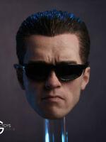 In-Stock GACTOYS GC106 Arnold Schwarzenegger T800 Head Sculpt + Glasses